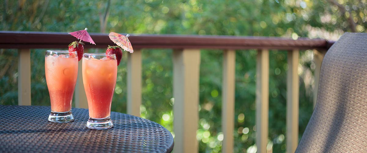 Drinks on the porch