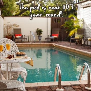 Guest Amenities 5  pool3601 St. Francis Inn St. Augustine Bed and Breakfast