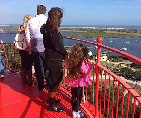 The View from the top of the St Augustine Lighthouse & Maritime Museum