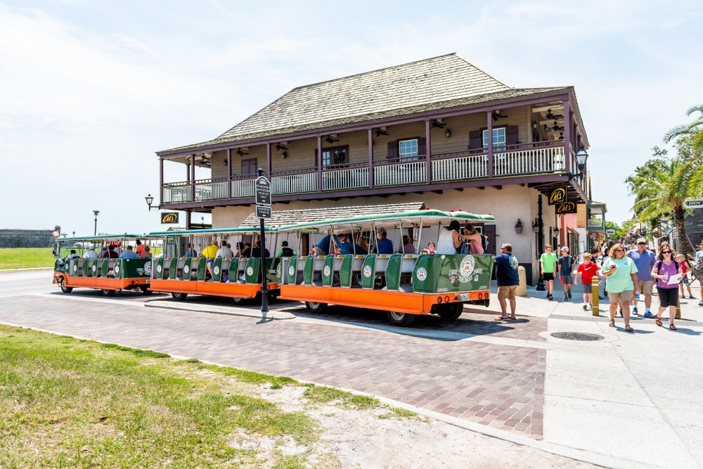 take a trolley tour in St.Augustine