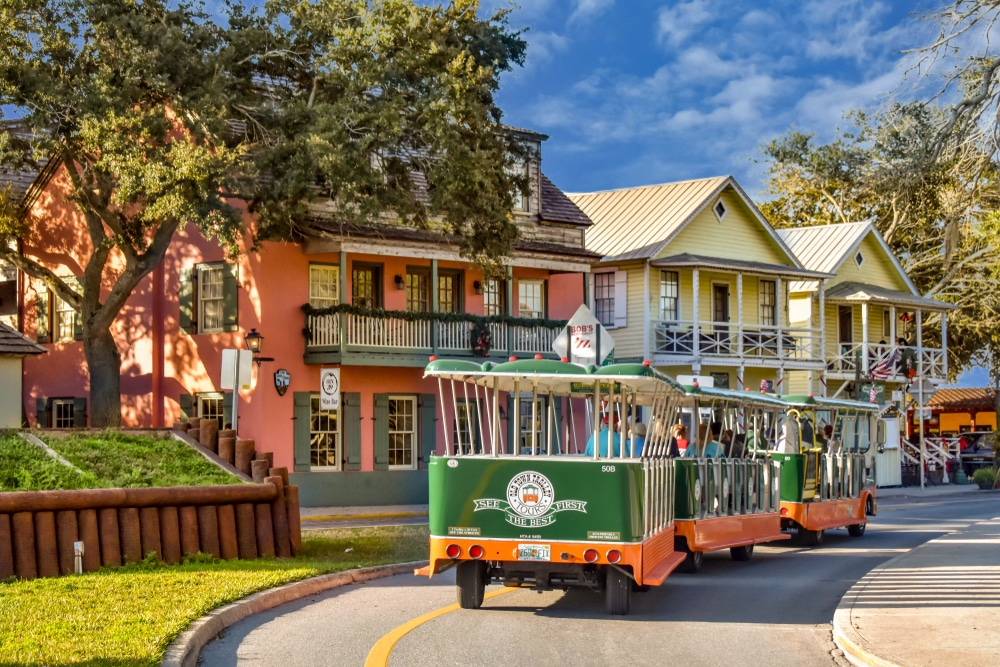 take a trolley tour in St. Augustine