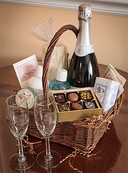 honeymoon or anniversary basket