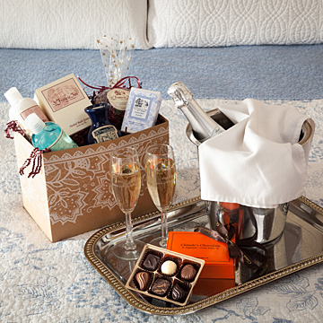 Champagne, Chocolates, Bath Goodies