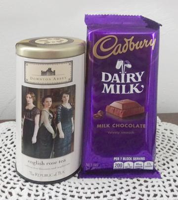 Tea Canister and Cadbury Chocolates