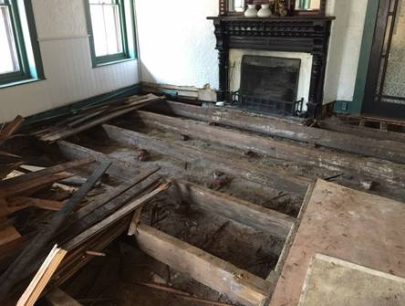 Dining Room Floor Removed at St Francis Inn