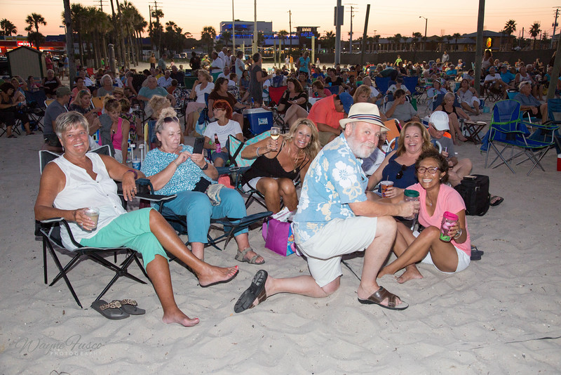 Audience at Music By The Sea Event