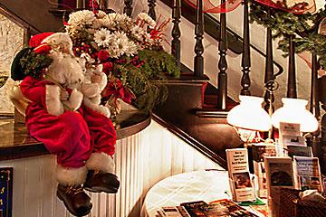 Santa display in the lobby