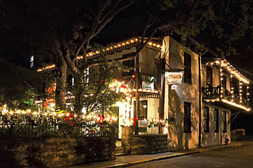 St. Francis Inn exterior during Nights of Lights celebration