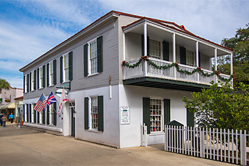 Pena-Peck House & Women's Exchange of St. Augustine exterior on St. George Street