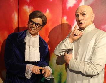 Potter's Wax Museum Movie Characters Austin Powers and Dr. Evil