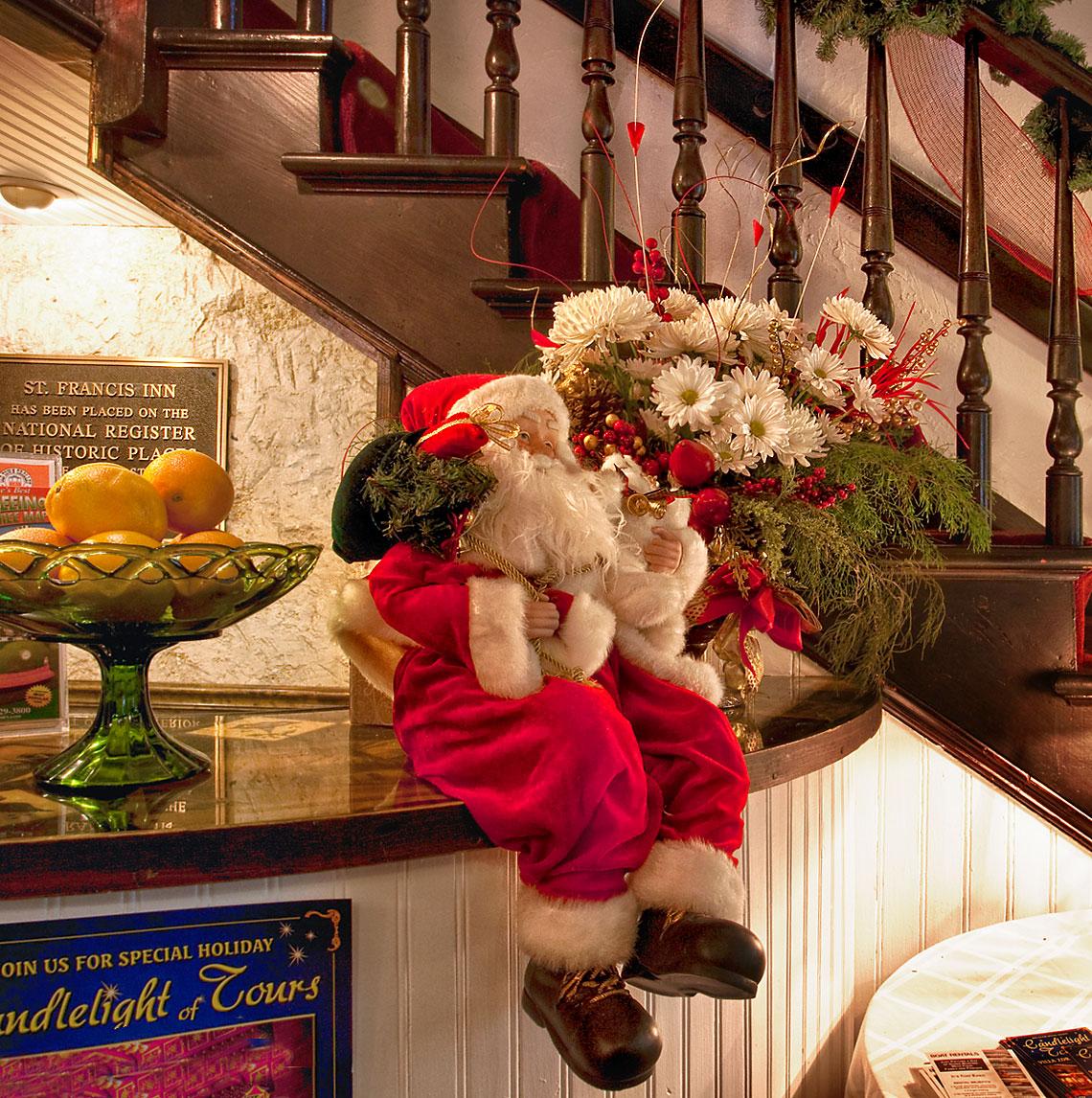Santa at check-in