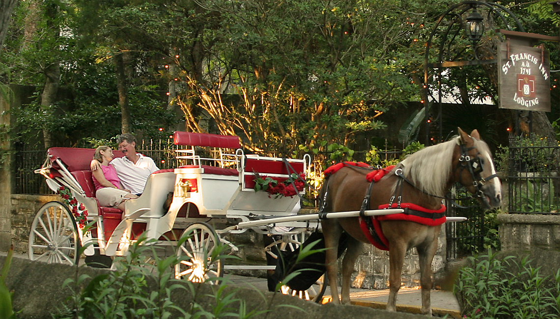 horse buggy passes the Inn