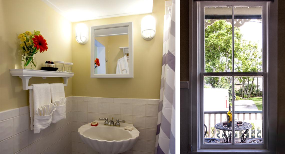 Sailor's Rest Bathroom and Balcony