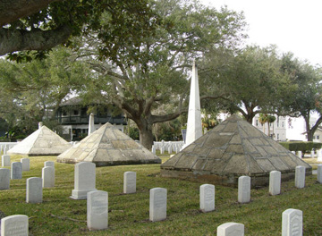 St. Augustine National Cemetery pyramids and obelisk