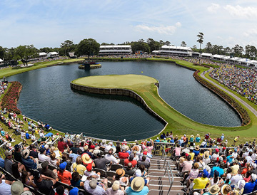 17 Hole at TPS Players Championship at Sawgrass
