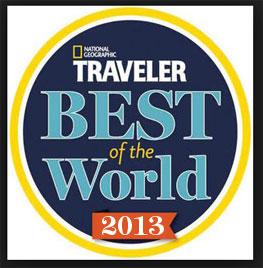 National Geographic Traveler Best of World 2013 logo