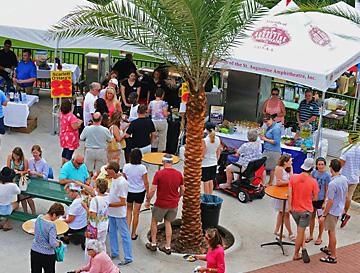 Outdoor festival vendors