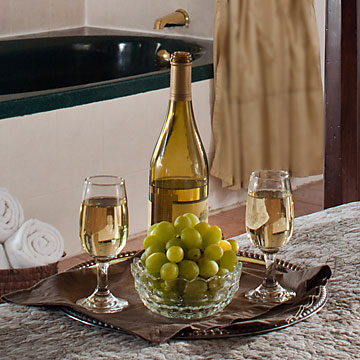 chardonnay wine in the room