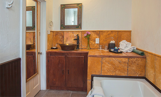 One of two bathrooms in The Cottage