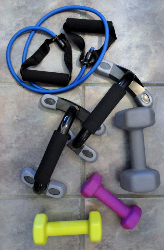 exercise equipment for guests' use