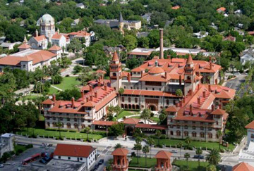 Flagler College aerial view