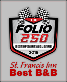 2019 Best B&B Award from Folio 250 Reader Poll