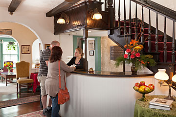 Checking in at St. Francis Inn's front desk