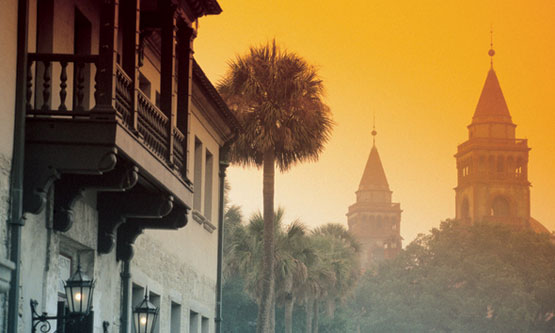 Government House with Flagler College towers beyond