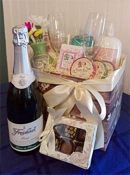 Honeymoon and anniversary basket