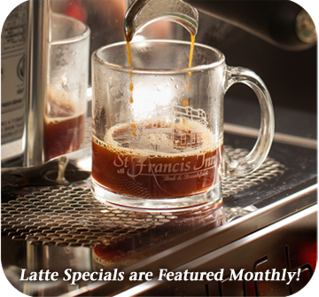 coffee latte flavors change monthly