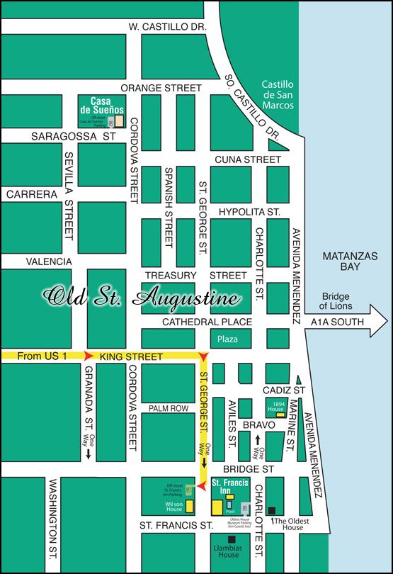 Map for St. Francis Inn