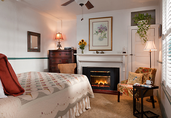 Fireplaced Guest Room at St. Francis Inn