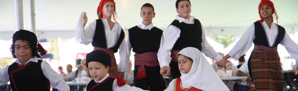 Dancing at Greek Festival