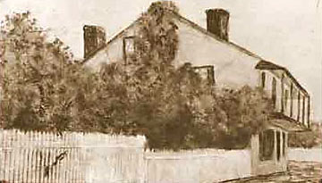 old photo of St. Francis Inn prior to 1888