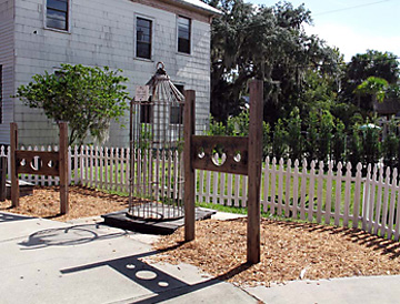 Outdoor exhibits at the Old Jail Museum