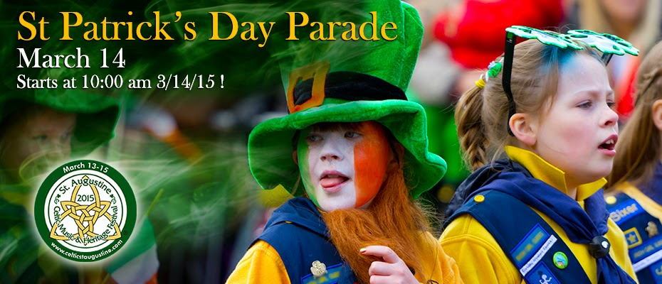 St.Patrick's Day Parade will be March 14, 2015 7 parade 31 St. Francis Inn St. Augustine Bed and Breakfast