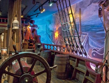 Pirate Museum ship deck