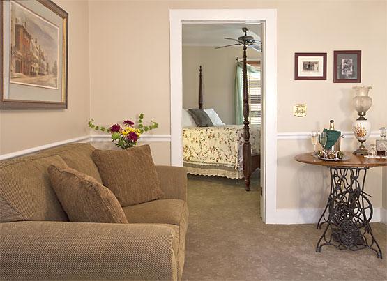 Saffron's Suite cozy couch
