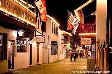 St. George Street at night