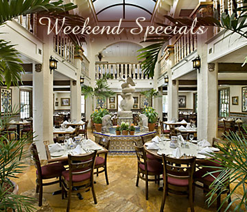 click for details on Weekend specials